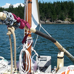 "Chain wrapping for additional weight, to prevent jumping off the transom pin. Approximately 1 lb. 12 oz., 4 feet of 3/16"" chain. Ankle or wrist weights meant for exercising would probably be easier."